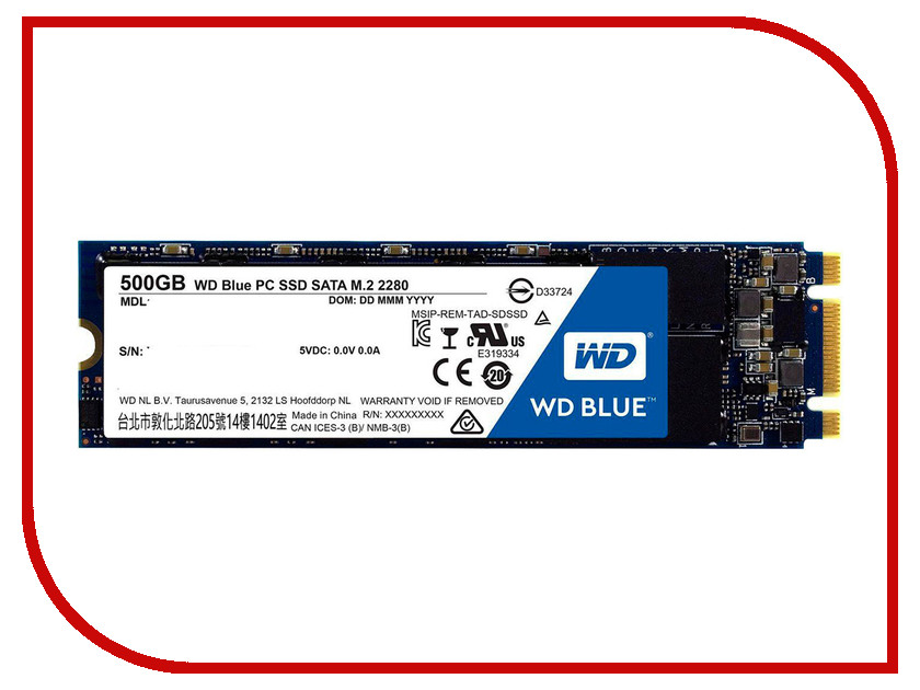 Жесткий диск 500Gb - Western Digital WDS500G1B0B