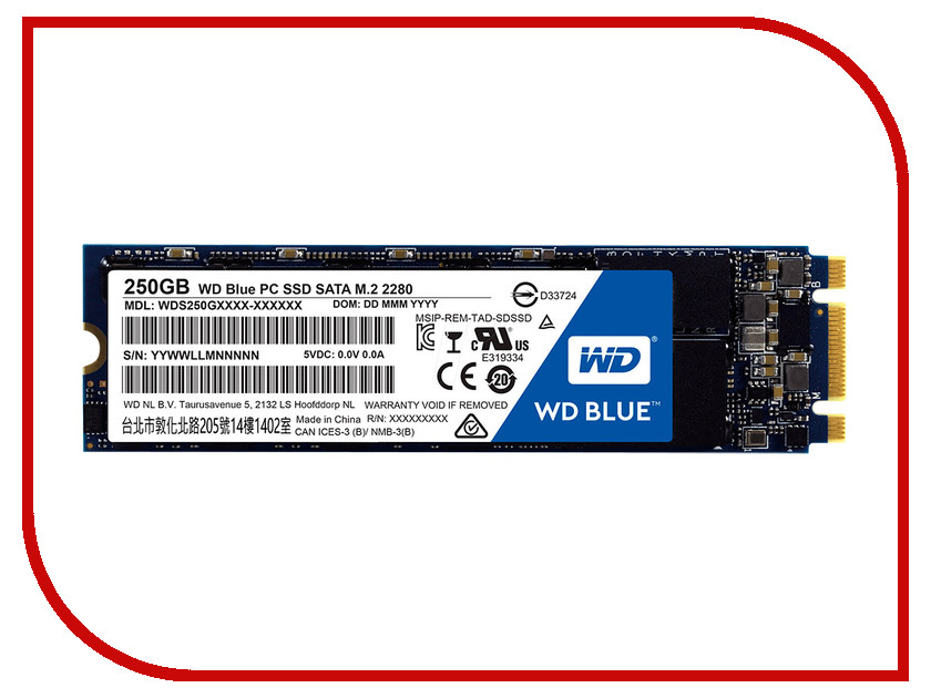Жесткий диск 250Gb - Western Digital WDS250G1B0B<br>