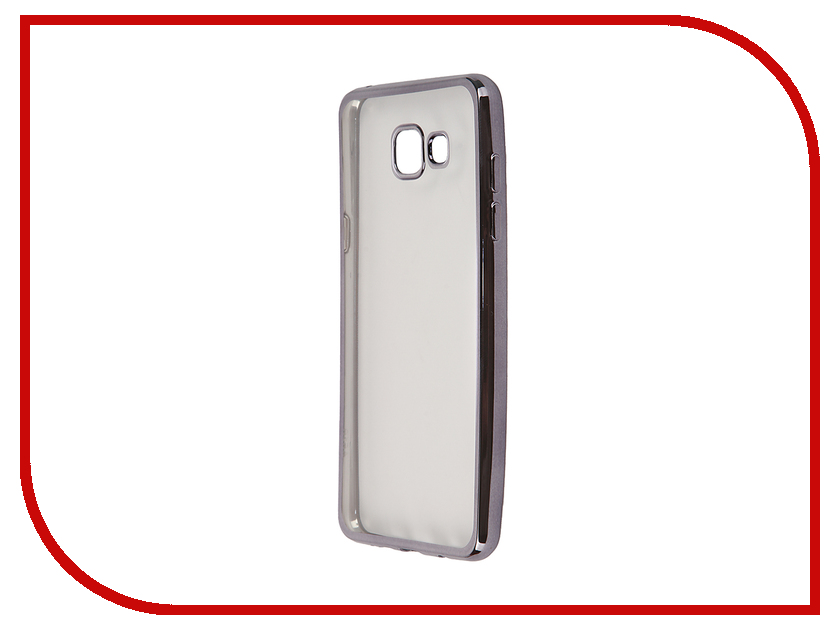 Аксессуар Чехол-накладка Samsung Galaxy A5 (2016) SkinBox Silicone Chrome Border 4People Dark Silver T-S-SGA52016-008 аксессуар чехол накладка samsung galaxy j3 2016 skinbox silicone chrome border 4people dark silver t s sgj32016 008