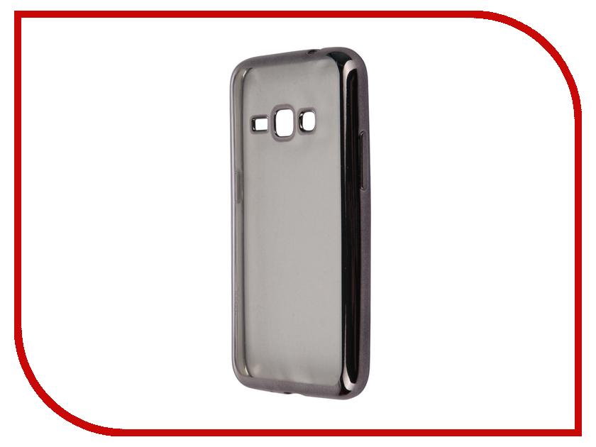 Аксессуар Чехол-накладка Samsung Galaxy J1 (2016) SkinBox Silicone Chrome Border 4People Dark Silver T-S-SGJ12016-008 аксессуар чехол накладка samsung galaxy a3 2017 skinbox silicone chrome border 4people dark silver t s sga32017 008