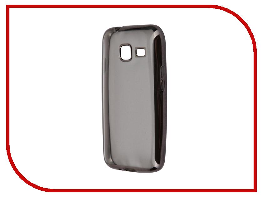 Аксессуар Чехол-накладка Samsung Galaxy J1 mini (2016) SkinBox Silicone Chrome Border 4People Dark Silver T-S-SGJ1M2016-008<br>
