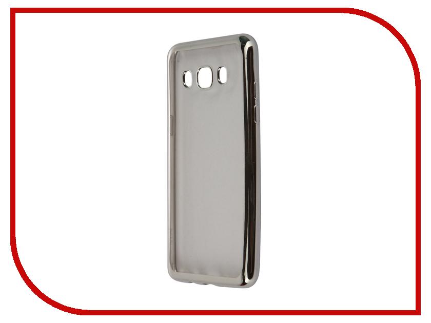 Аксессуар Чехол-накладка Samsung Galaxy J5 (2016) SkinBox Silicone Chrome Border 4People Silver T-S-SGJ52016-008<br>