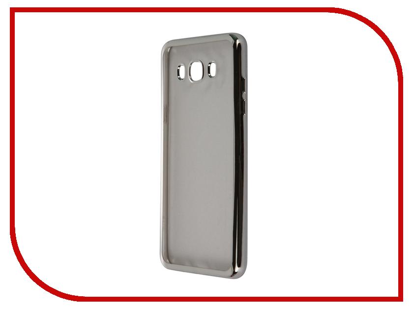 Аксессуар Чехол-накладка Samsung Galaxy J7 (2016) SkinBox Silicone Chrome Border 4People Silver T-S-SGJ72016-008<br>