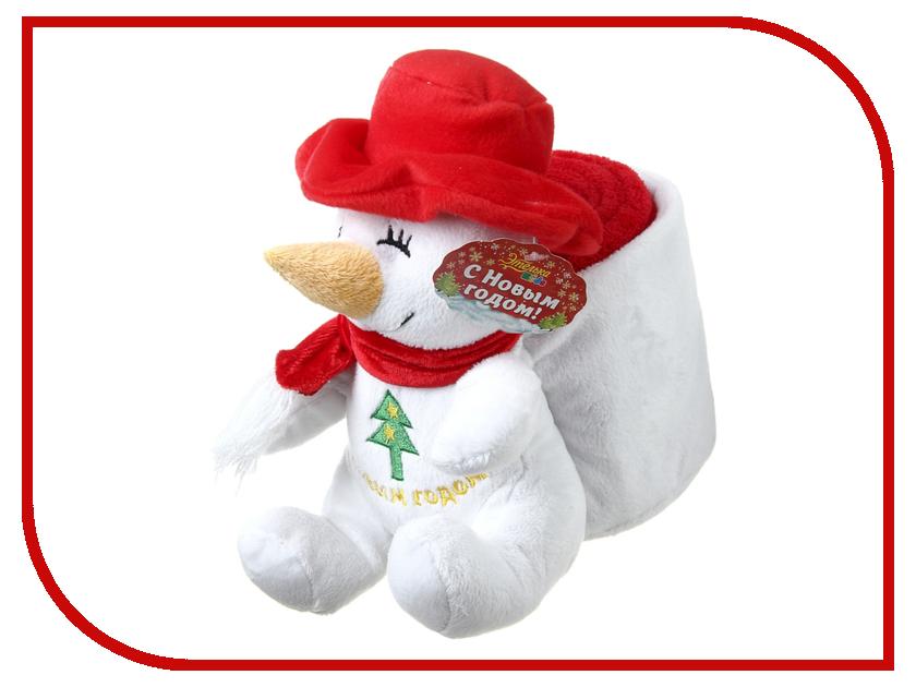 Новогодний сувенир Этель Снеговик-рюкзак + плед Red 75x100cm 165335