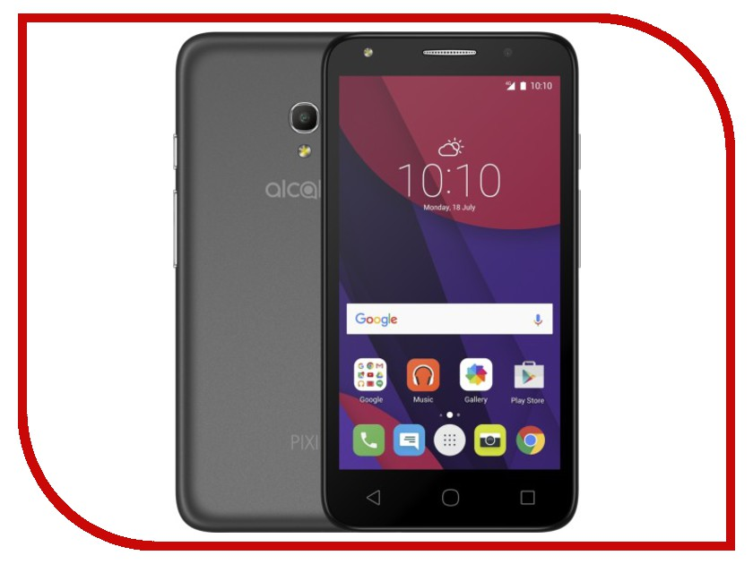 Сотовый телефон Alcatel OneTouch 5045D PIXI 4 Dark Grey чехол флип кейс alcatel flipcover для alcatel pixi 4 5045 белый [g5045 3balfcg]