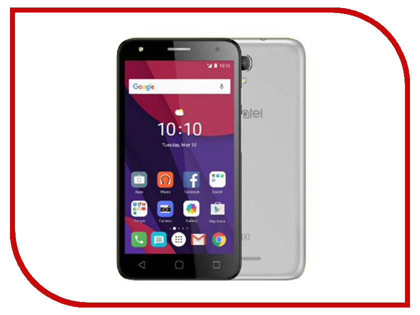 все цены на  Сотовый телефон Alcatel OneTouch 5045D PIXI 4 Metal Silver  онлайн