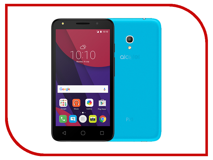 Сотовый телефон Alcatel OneTouch 5045D PIXI 4 Sharp Blue чехол флип кейс alcatel flipcover для alcatel pixi 4 5045 белый [g5045 3balfcg]