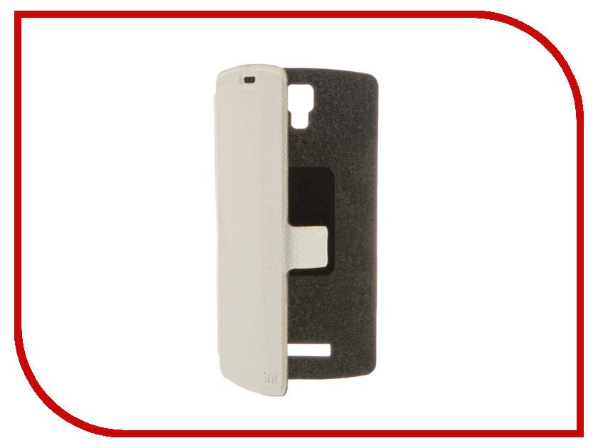 Аксессуар Чехол ZTE L5 3G TFN FlipCover White TFN-BC-06-012PUWT<br>