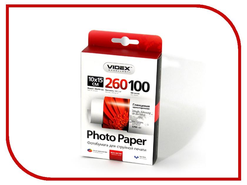 Фотобумага Videx HGA6-260/100 10x15 260g/m2 глянцевая 100 листов