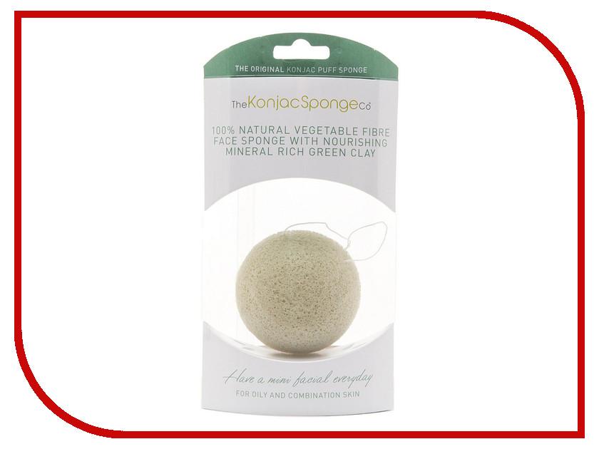 Средство для ухода за лицом The Konjac Sponge Company Premium мини-спонж с зеленой глиной - подарочный<br>