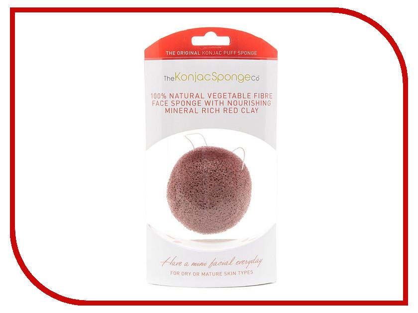Средство для ухода за лицом The Konjac Sponge Company Premium мини-спонж с красной глиной - подарочный