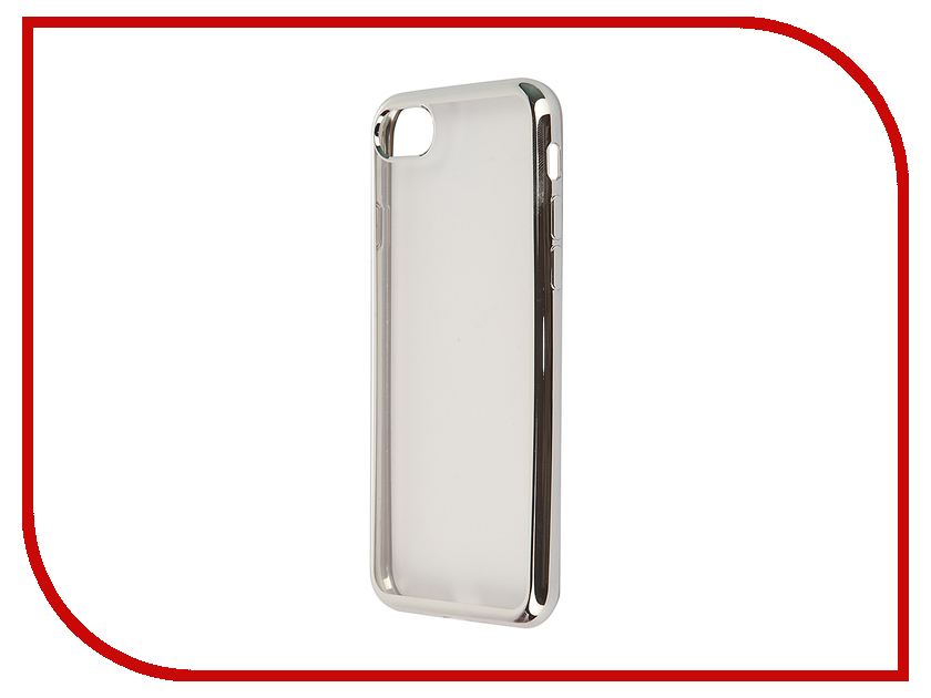 Аксессуар Чехол SkinBox Silicone Chrome Border 4People для iPhone 7 Silver T-S-AI7-008 аксессуар чехол накладка для meizu m5 skinbox silicone chrome border 4people gold t s mm5 008
