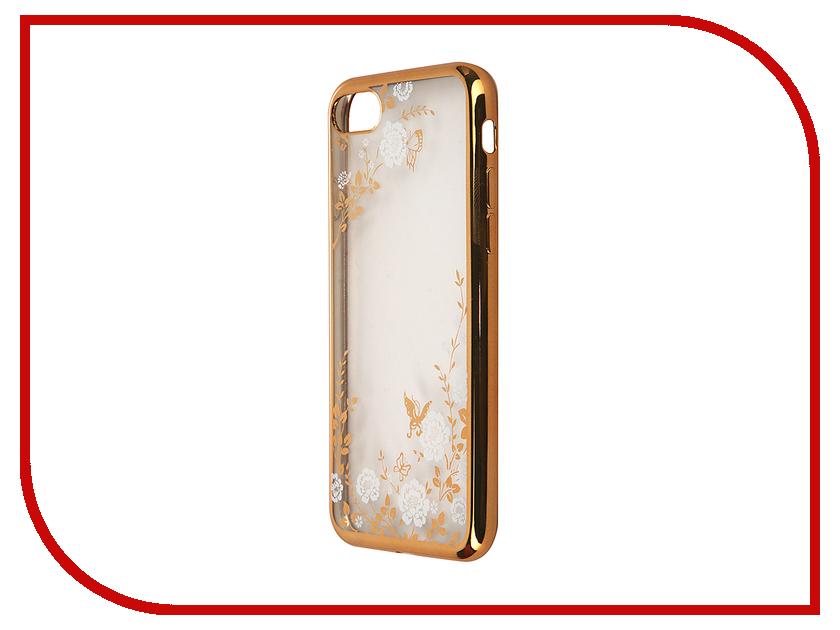 Аксессуар Чехол SkinBox Silicone Chrome Border Color Style 1 4People для iPhone 7 White T-S-AI7-009 skinbox 4people чехол для lenovo p70 white