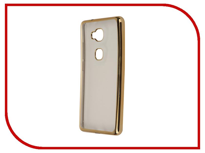 Аксессуар Чехол Huawei Honor 5X SkinBox Silicone Chrome Border 4People Gold T-S-HH5X-008