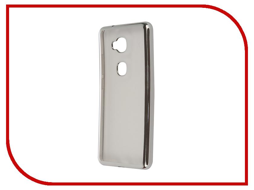 Аксессуар Чехол Huawei Honor 5X SkinBox Silicone Chrome Border 4People Dark Silver T-S-HH5X-008