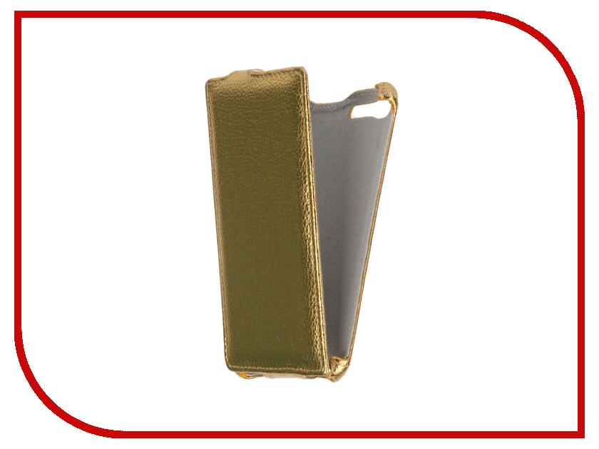Аксессуар Чехол Sony Xperia M5/M5 Dual Zibelino Classico Gold ZCL-SON-M5-GLD<br>