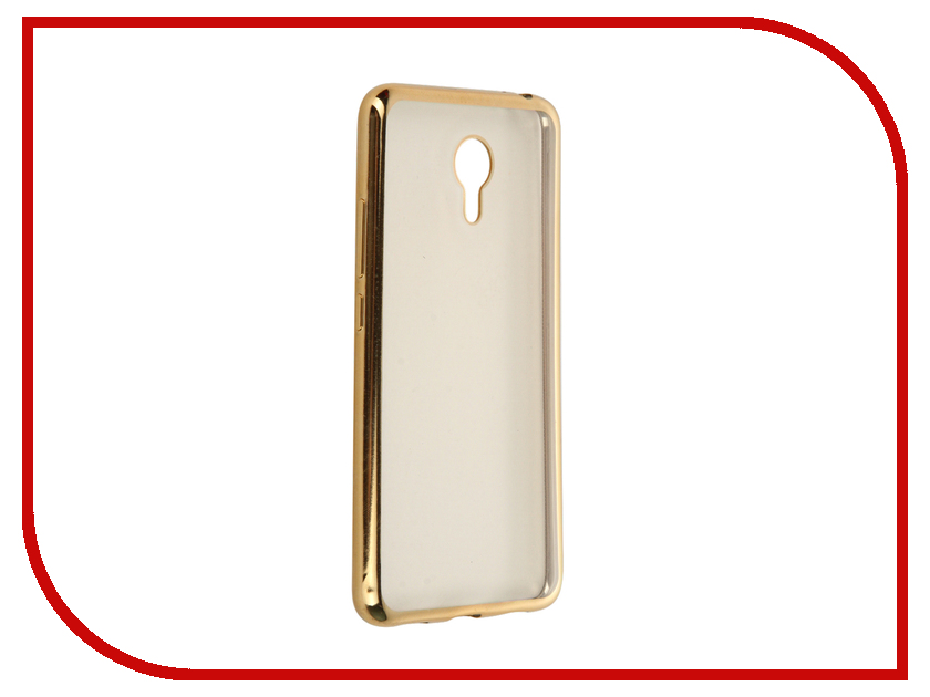Аксессуар Чехол Meizu M3 Note SkinBox Silicone Chrome Border 4People Gold T-S-MM3N-008<br>