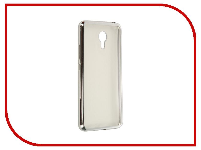 Аксессуар Чехол Meizu M3 Note SkinBox Silicone Chrome Border 4People Dark Silver T-S-MM3N-008