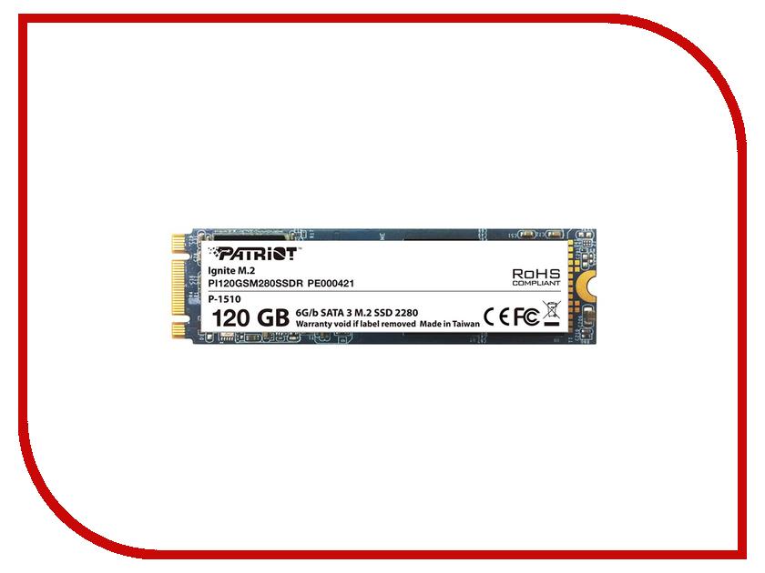 Жесткий диск 120Gb - Patriot Memory Ignite M2 PI120GSM280SSDR