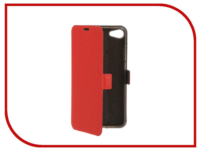 Аксессуар Чехол Meizu U10 SkinBox Prime Book Red T-P-MU10-05