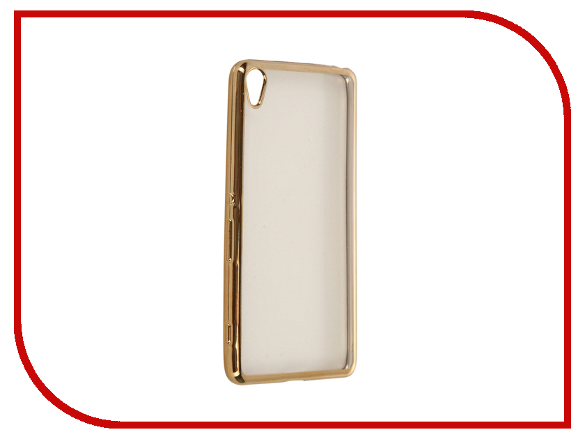 Аксессуар Чехол Sony Xperia XA SkinBox Silicone Chrome Border 4People Gold T-S-SXXA-008<br>