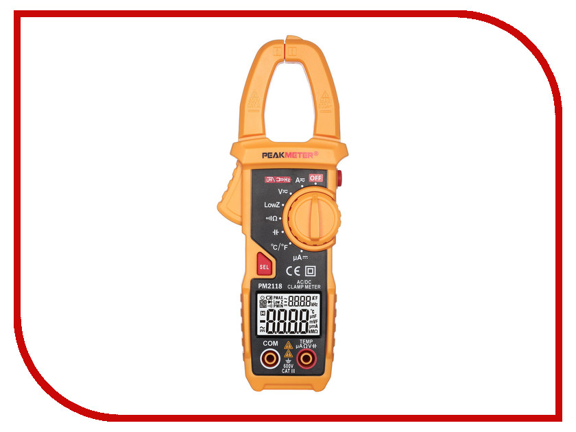 Токовые клещи PeakMeter PM2118 peakmeter pm6530a