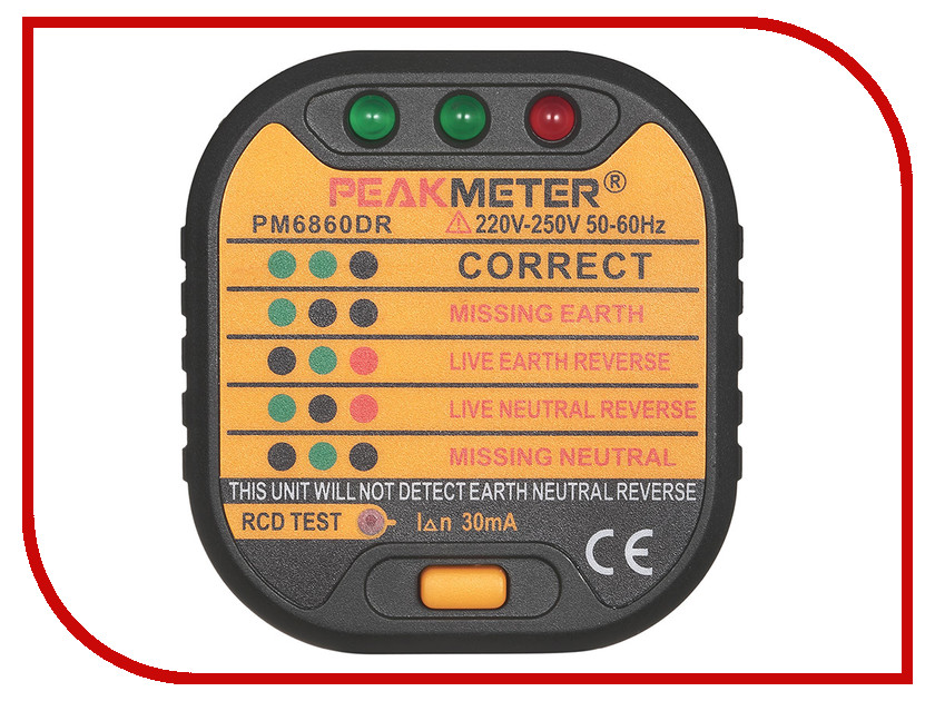 Тестер напряжения PeakMeter PM6860DR тестер напряжения meet ms 48m