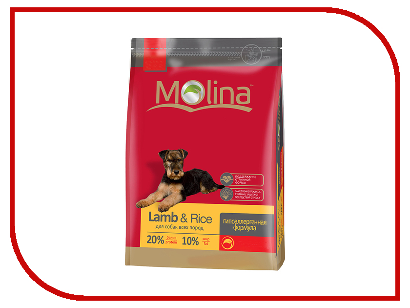 Корм Molina Adult Lamb &amp; Rice All Breed Ягненок c рисом 15kg для собак 1095<br>