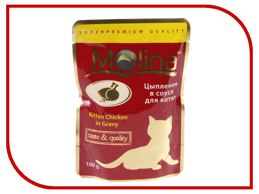 Корм Molina Цыпленок в соусе 100g для котят 1150