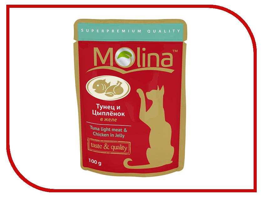 Корм Molina Тунец и цыпленок в желе 100g для кошек 1075 цыпленок в соусе molina