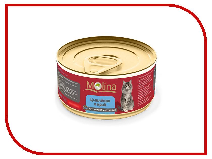 Корм Molina Цыпленок с крабами в желе 80g для кошек 0887<br>