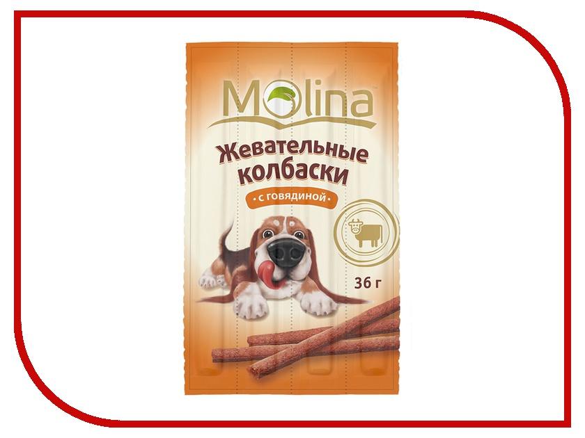 Лакомство Molina Жевательные колбаски с говядиной 36g для собак 1426