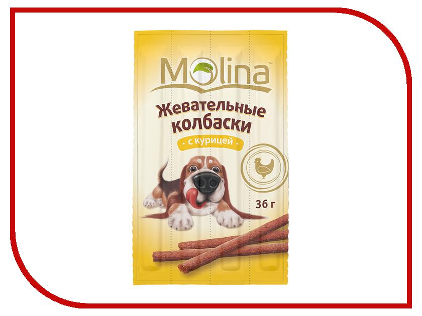 Лакомство Molina Жевательные колбаски с курицей 36g для собак 1389<br>