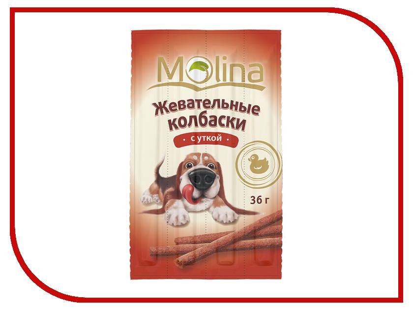 Лакомство Molina Жевательные колбаски с уткой 36g для собак 1341<br>