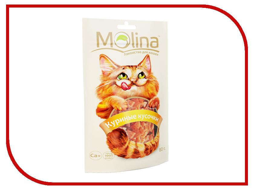 Корм Molina Куриные кусочки 80g для кошек 70610<br>