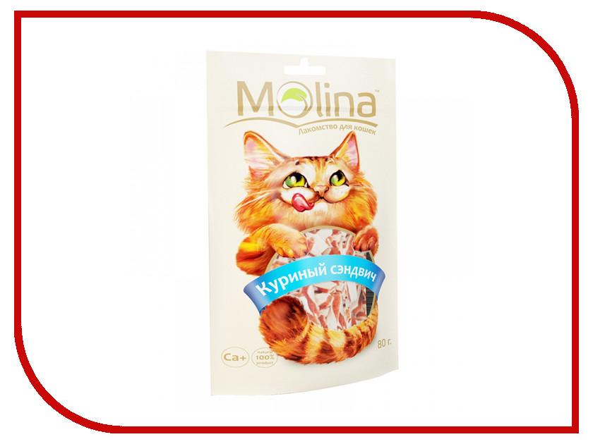Корм Molina Куриный сэндвич 80g для кошек 70597<br>