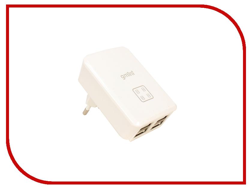Зарядное устройство Gmini 4 USB White GM-WC-0123-4USB<br>