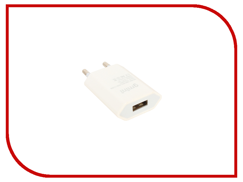Зарядное устройство Gmini 1 USB White GM-WC-008-1USB<br>