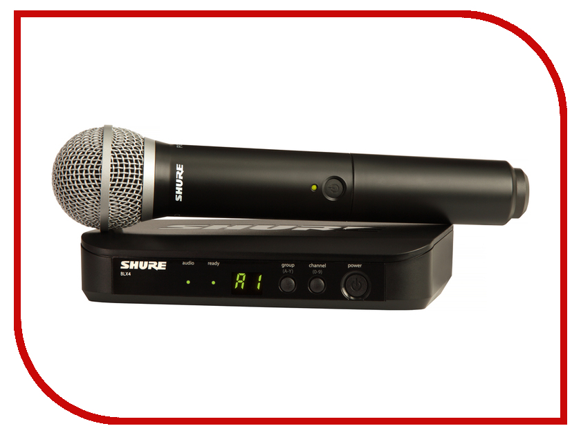 Радиомикрофон SHURE BLX24RE/PG58<br>