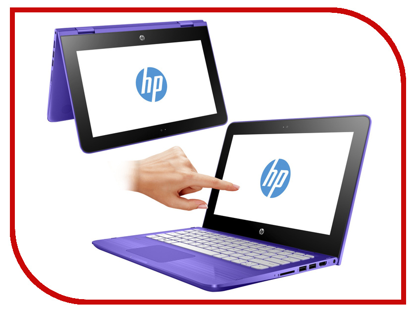 Ноутбук HP Stream x360 11-ab001ur Y5V30EA (Intel Celeron N3060 1.6 GHz/4096Mb/500Gb/Intel HD Graphics/Wi-Fi/Bluetooth/Cam/11.6/1366x768/Touchsceen/Windows 10 64-bit)<br>