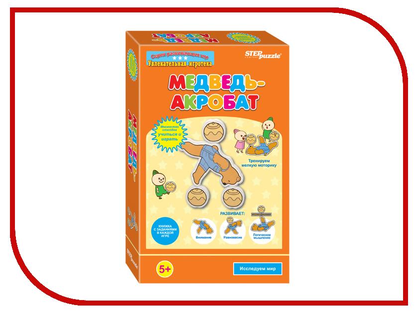 Настольная игра Step Puzzle Медведь - акробат 76523 настольная игра домино step puzzle маша и медведь