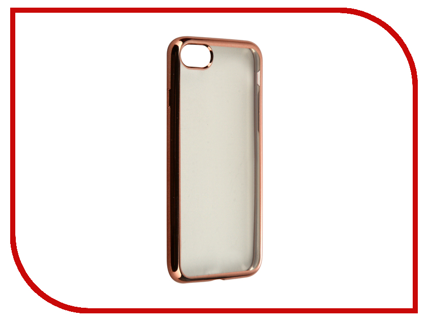 Аксессуар Чехол Krutoff Silicone для APPLE iPhone 7 Rose Gold 11784<br>