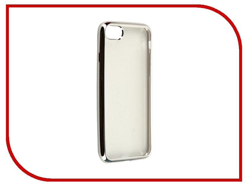 Аксессуар Чехол Krutoff Silicone для APPLE iPhone 7 Silver 11782 аксессуар чехол krutoff для apple iphone 7 transparent black 11786