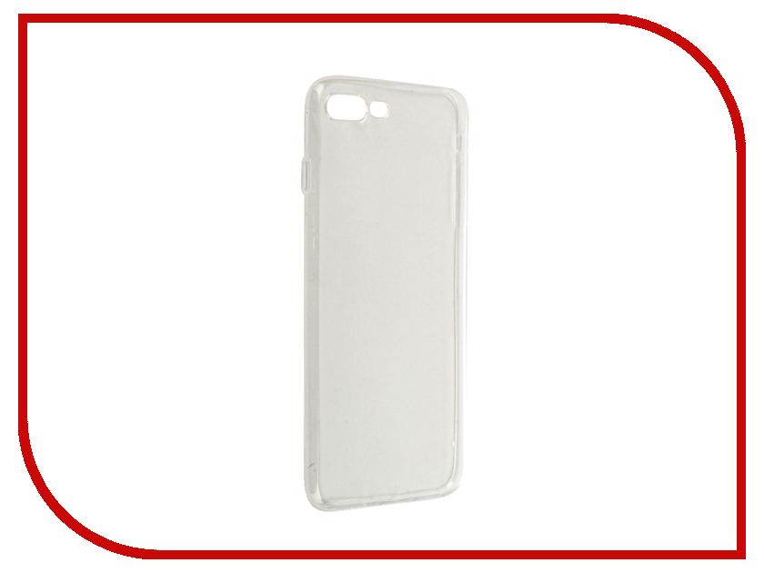Аксессуар Чехол Krutoff Silicone для APPLE iPhone 7 Plus Transparent 11779 аксессуар чехол krutoff для iphone 6 transparent black 10675