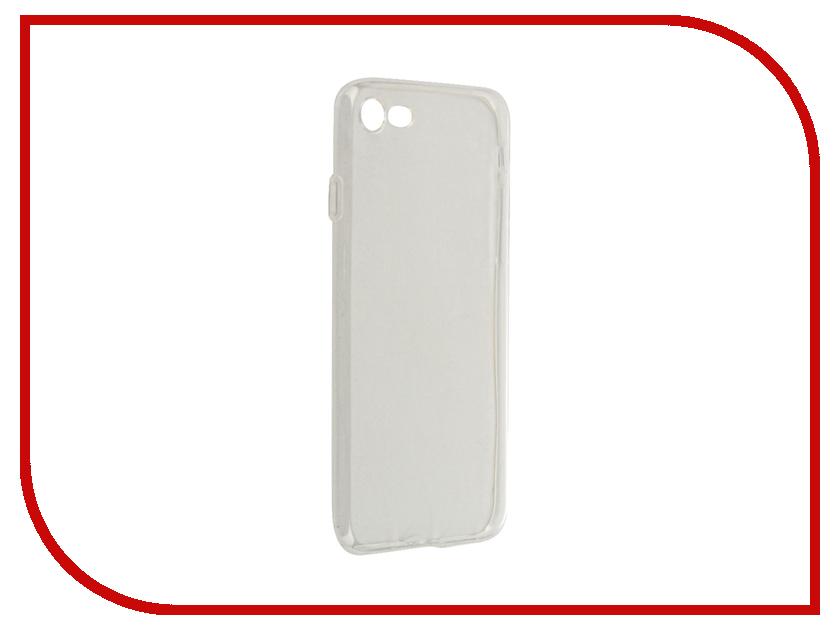 Аксессуар Чехол Krutoff Silicone для APPLE iPhone 7 Transparent 11778 аксессуар чехол krutoff для apple iphone 7 transparent black 11786