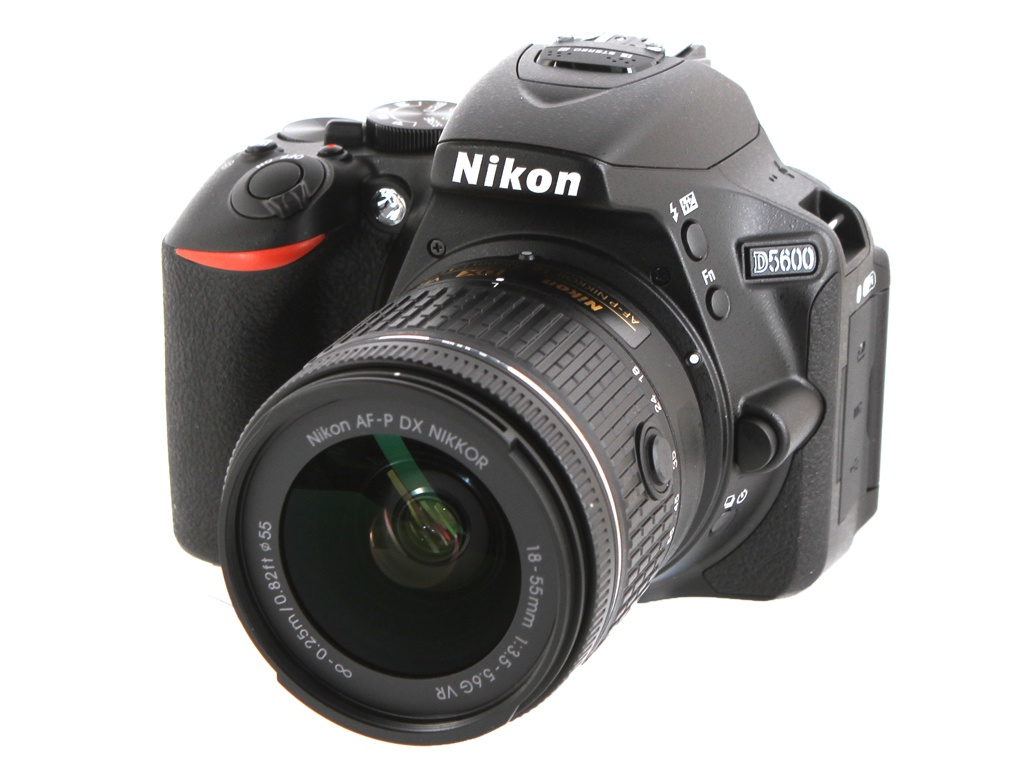 Фотоаппарат Nikon D5600 Kit 18-55 mm AF-P DX VR nikon d5600 dslr camera with 18 55mm and 70 300mm lenses new