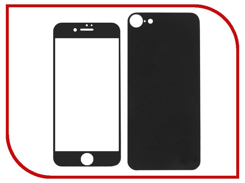 Аксессуар Защитное стекло Krutoff Front & Back для APPLE iPhone 7 Matte Black 21679 аксессуар чехол аккумулятор krutoff x4 3800 mah для iphone 6 black 48186