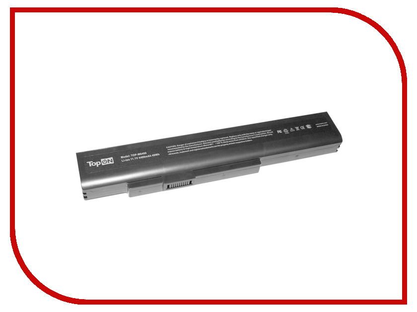 Аккумулятор TopON TOP-M6400 11.1V 4400mAh Black для MSI A6400/CR640/CX640 аналог PN: CS-MD9776NB/A32-A15/A41-A15<br>