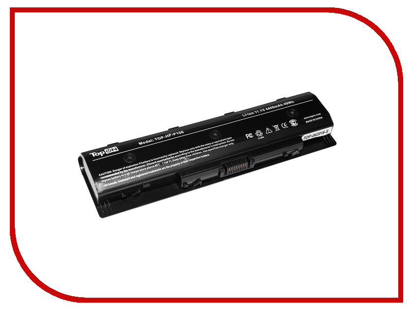 Аккумулятор TopON TOP-HP-P106 11.1V 4400mAh Black для HP P106/HP Envy 14/15/17 Series/HP Pavilion 14/15/17 Series