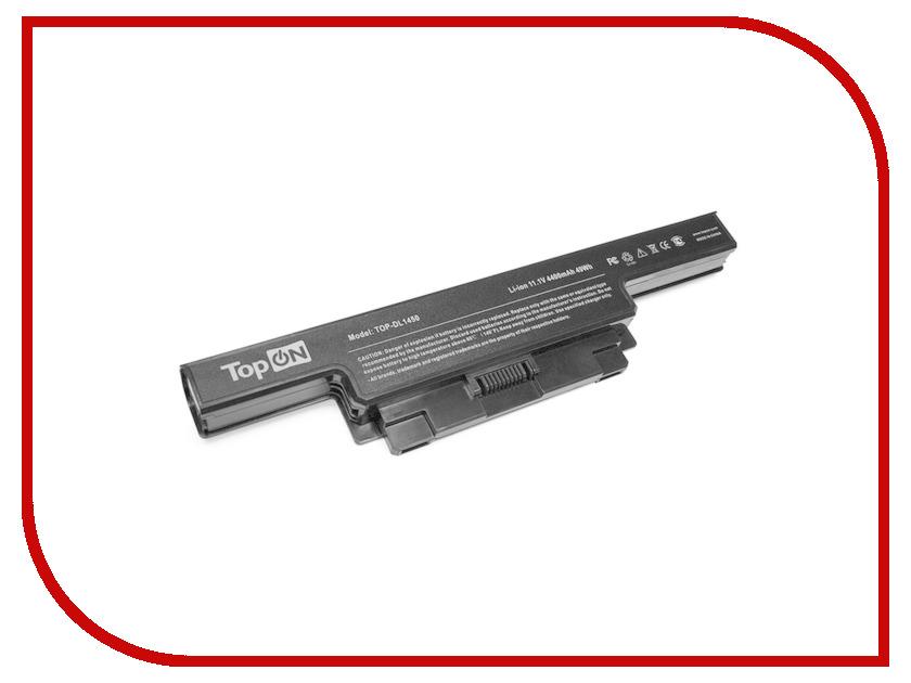 Аккумулятор TopON TOP-DL1450 11.1V 4400mAh для Dell Studio 1450/1457/1458 Sereis PN: 312-4000/312-4009/N998P/P219P/U597P/W358P